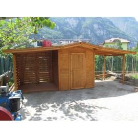 Legnaia casetta doppia porta for Legnaia con ripostiglio