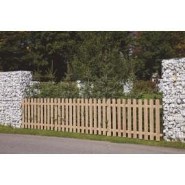 recinzioni assi stondate